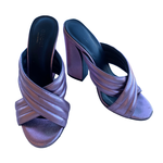 Wyld Blue Gucci Metallic Heels
