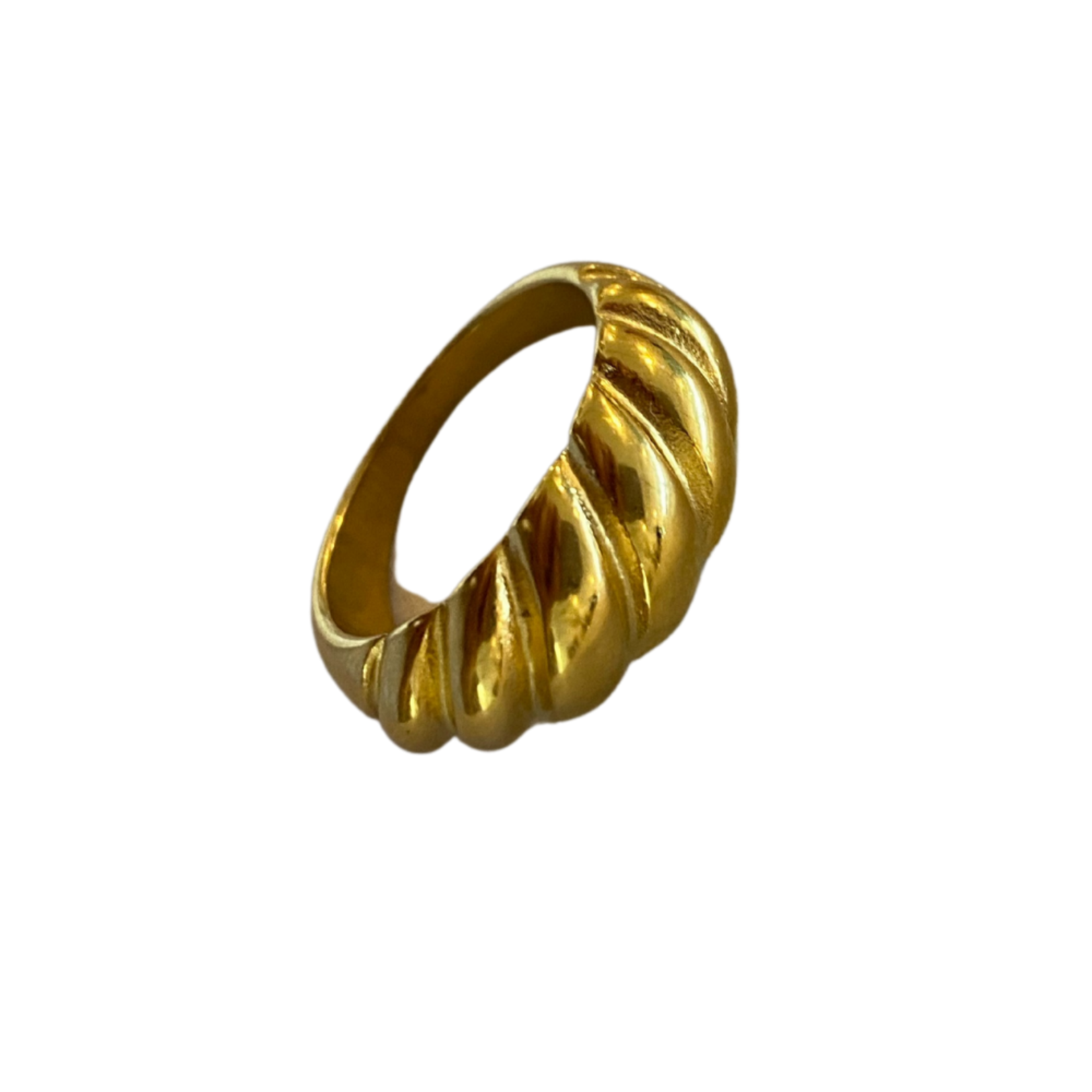 Wyld Blue Twisted Baguette Ring