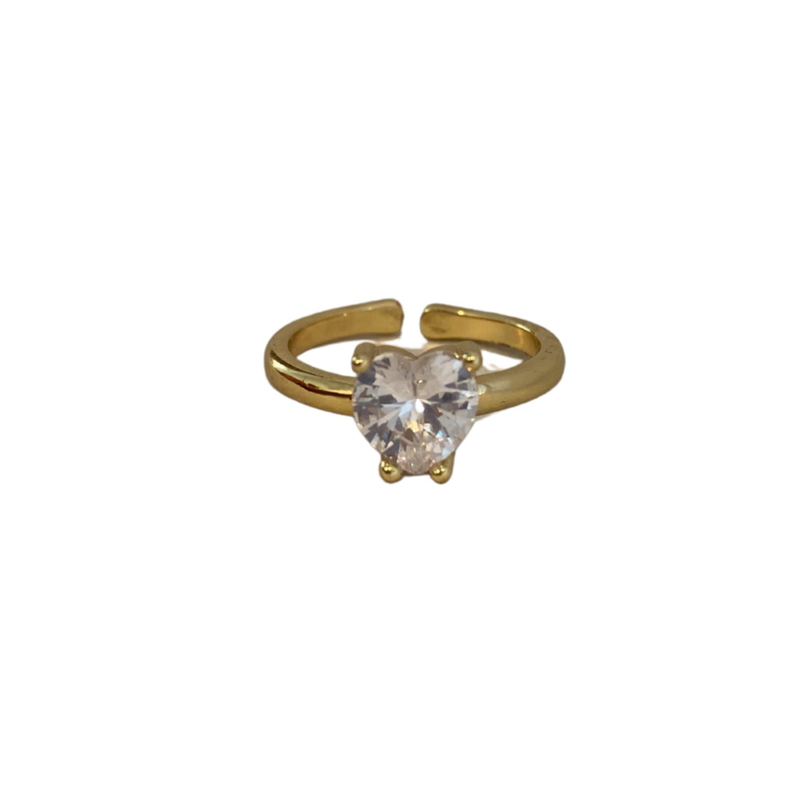 Wyld Blue Diamond Heart Ring