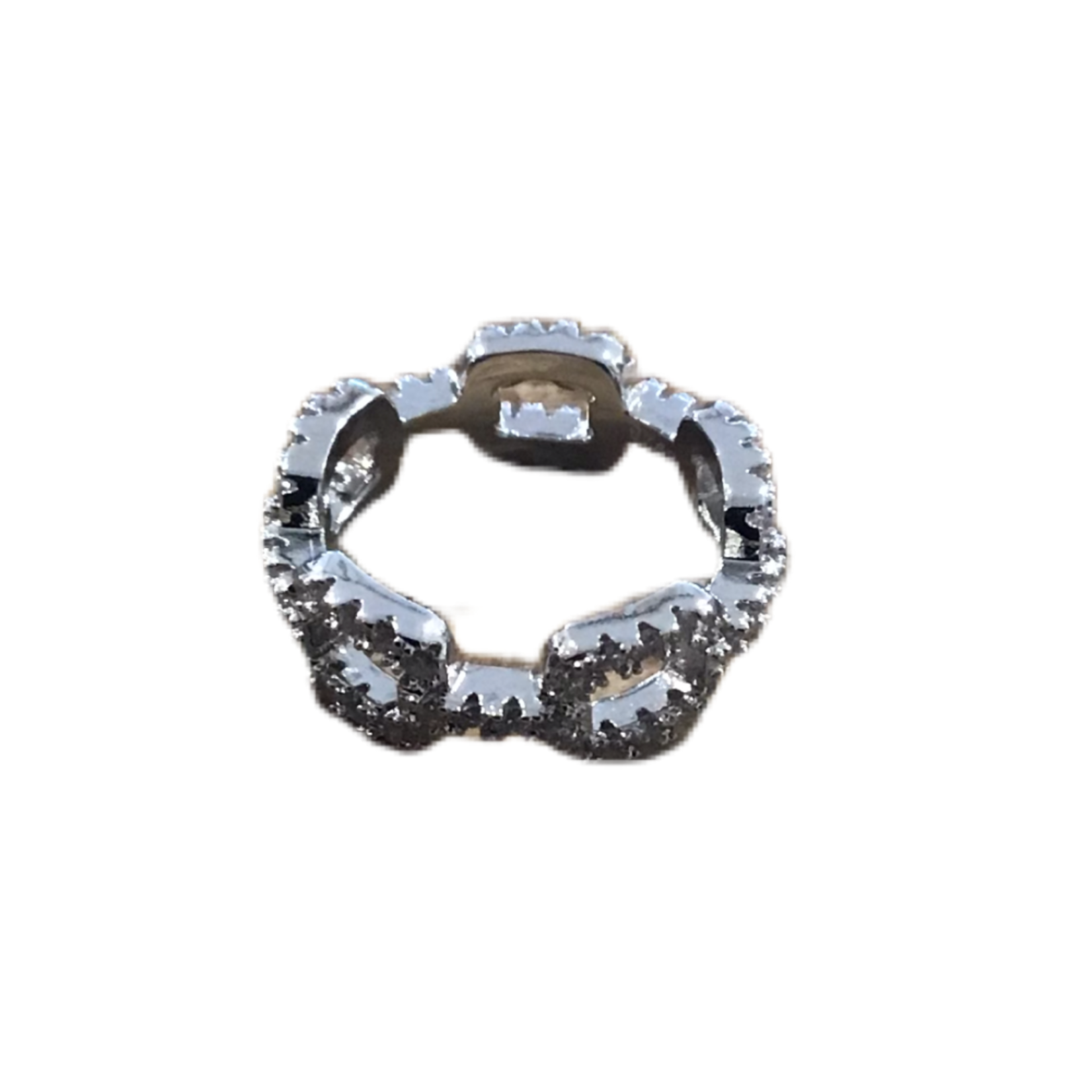 Wyld Blue Crystal Chain Ring