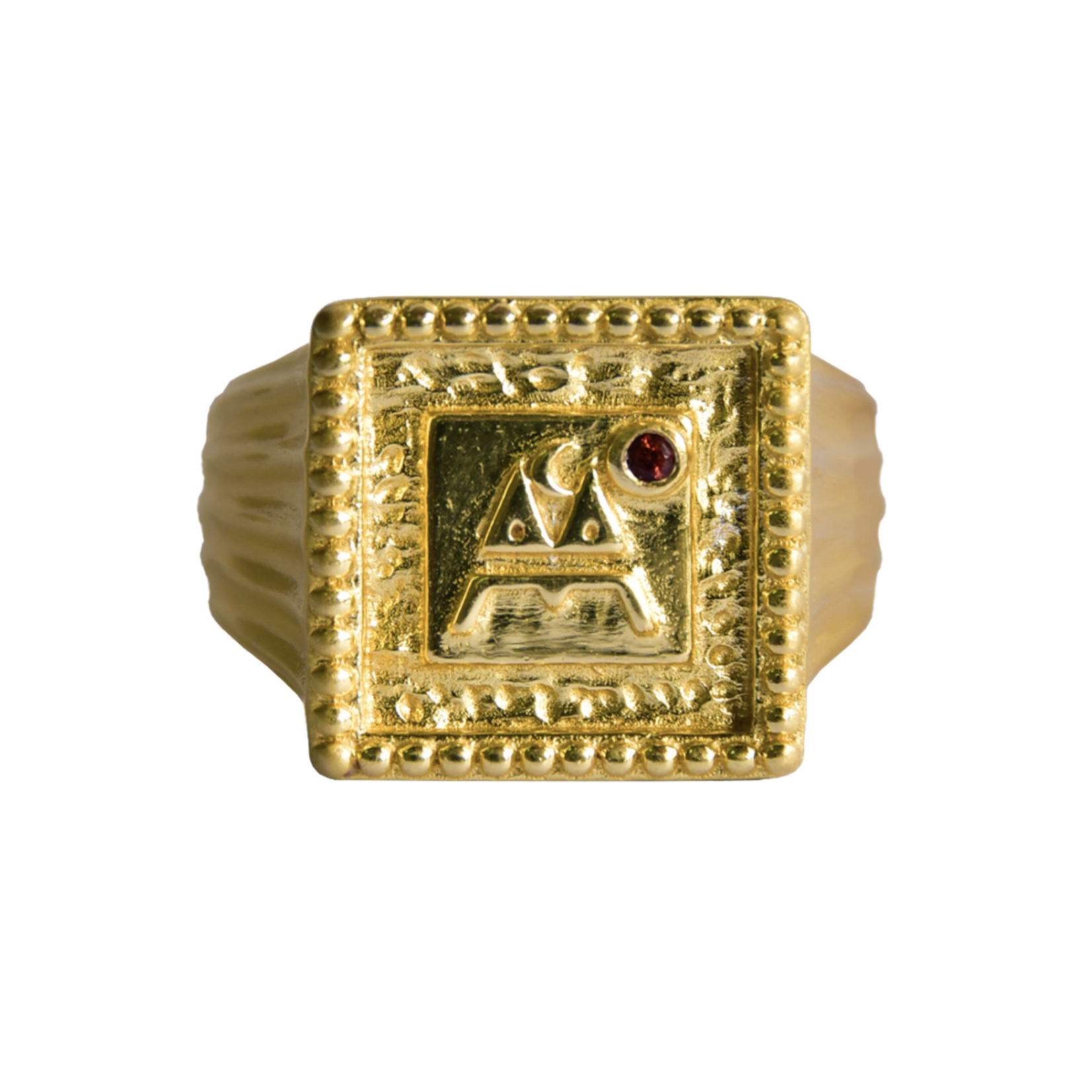 Mountain and Moon Signet Ring
