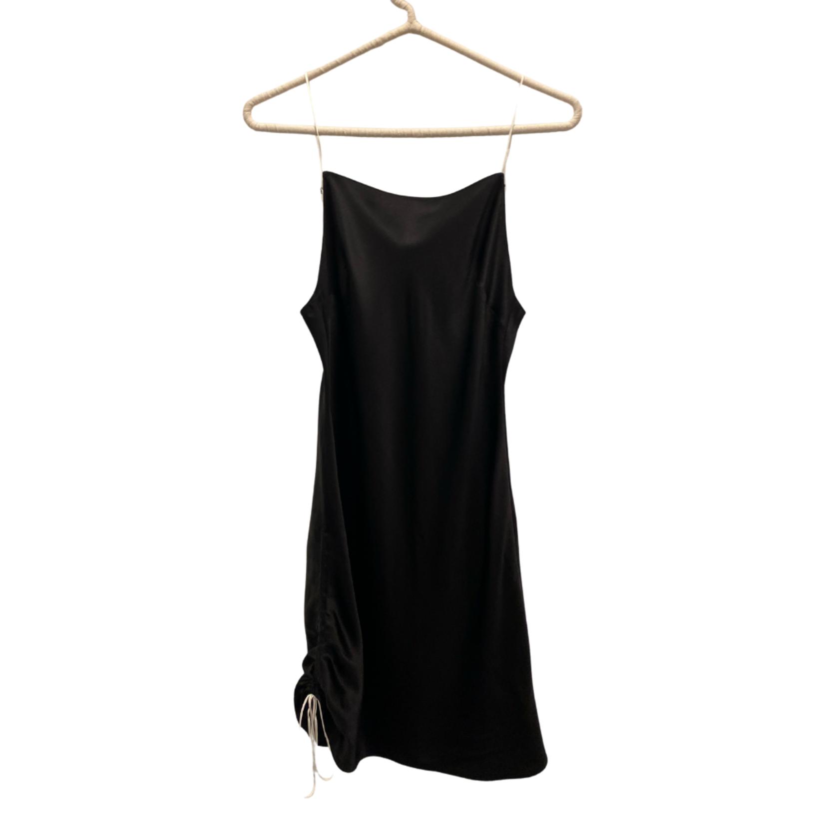 Dannijo Mini Side Ruched Dress Noir