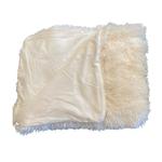 Wyld Blue Home Fuzzy White Blanket