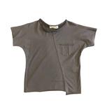 Anja Schwerbrock Bedo Asymmetric Front Line T-Shirt Charcoal