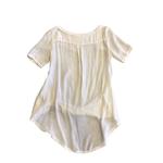 Wyld Blue Cream Linen T Shirt