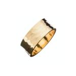 Eklexic 1/2  Cigar Band Ring Gold