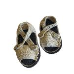 Wyld Blue Baby Knit Sandal Dark Brown/Tan