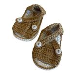 Wyld Blue Kids Baby Knit Sandal Mustard