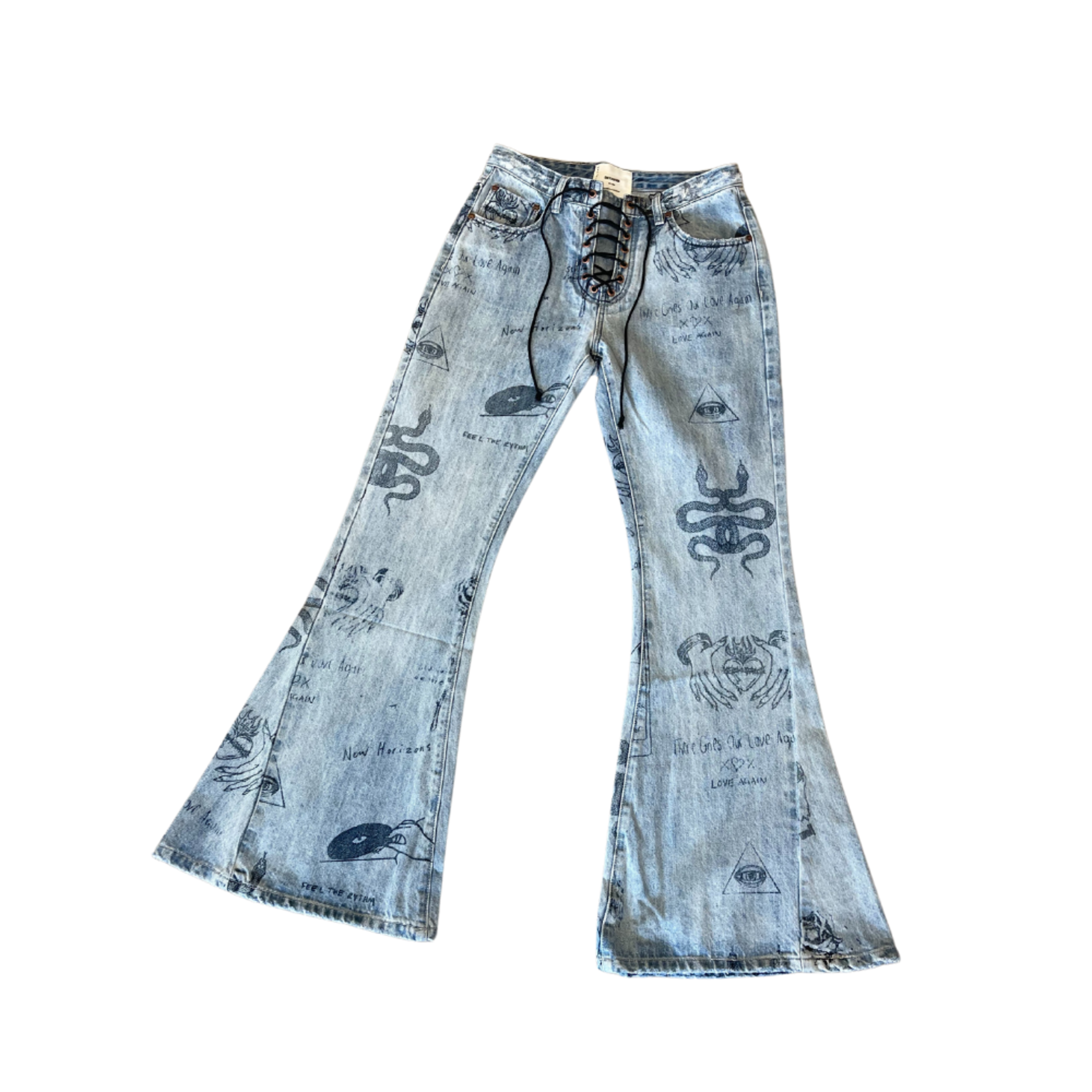 OneTeaspoon Salty Dog Tattoo Flare Jeans