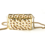 Entre Piedras Pearl Rectangle Bag With Chain
