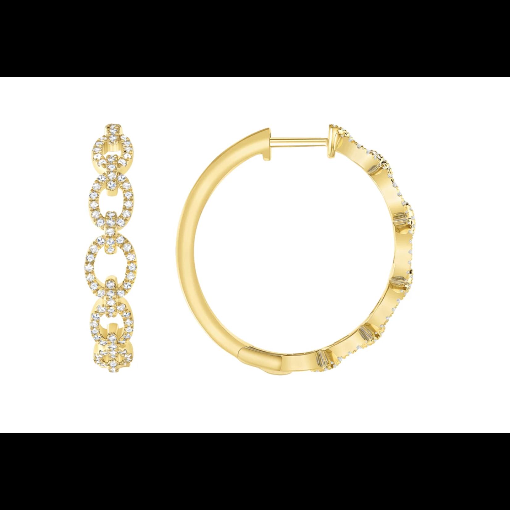 Larsa Marie Faith Link Hoop Earrings