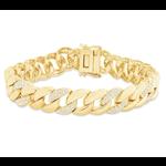 Larsa Marie Teddy Cuban Link Bracelet