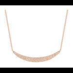 Larsa Marie Brooke Pave Diamond Necklace Rose Gold
