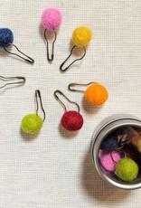 Brooklyn Haberdashery Pom Pom Stitch Markers Assorted