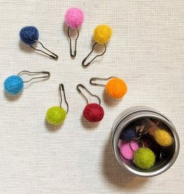 Brooklyn Haberdashery Pom Pom Stitch Markers Assorted