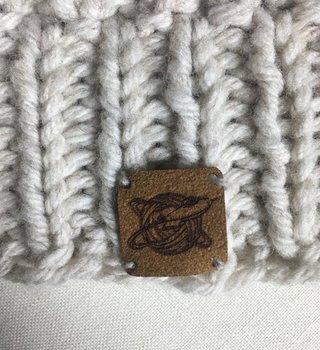 Katrinkles Faux Suede fibre space logo tag
