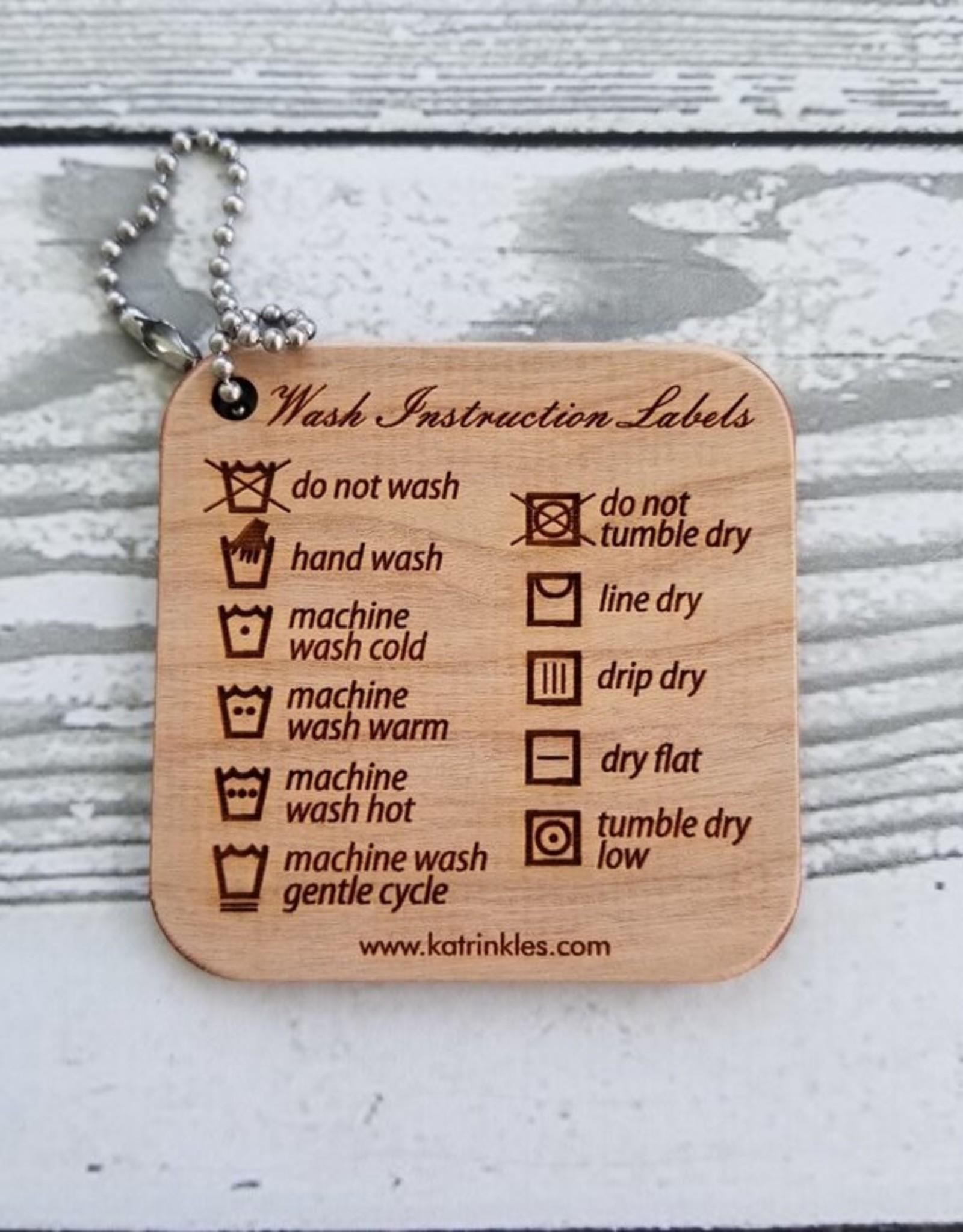 Katrinkles Katrinkles Wash Instruction Labels Mini Tool