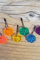 Katrinkles Rainbow Cast On Counting Stitch Marker Set