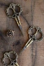 NNK Victorian Scrollwork Scissors Antique Gold