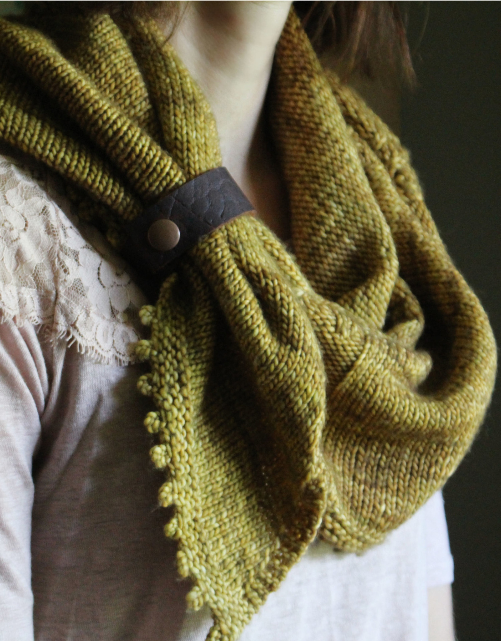 NNK Leather Shawl and Cowl Cuff