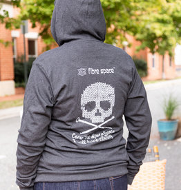 fibre space Come The Apocalypse Zip Up Hoodie