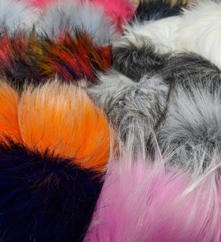 Lovafur Luxury Vegan Faux Fur Pom Pom