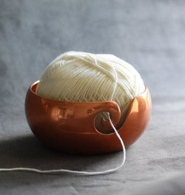 Furls Crochet Metal Yarn Bowl - Copper Finish