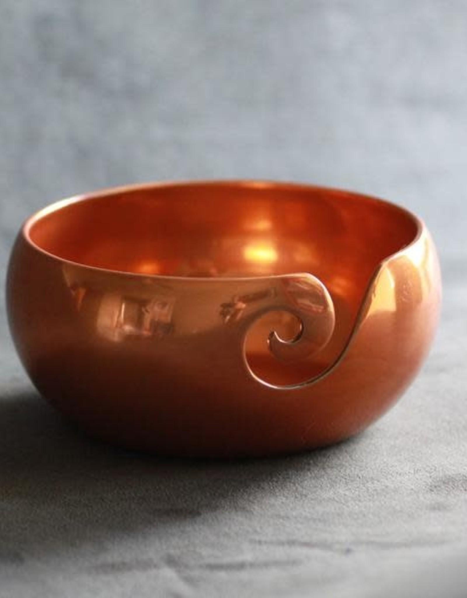 Furls Crochet Metal Yarn Bowl - Copper Finish