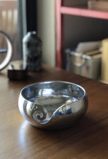 Furls Crochet Metal Yarn Bowl - Polished Aluminum