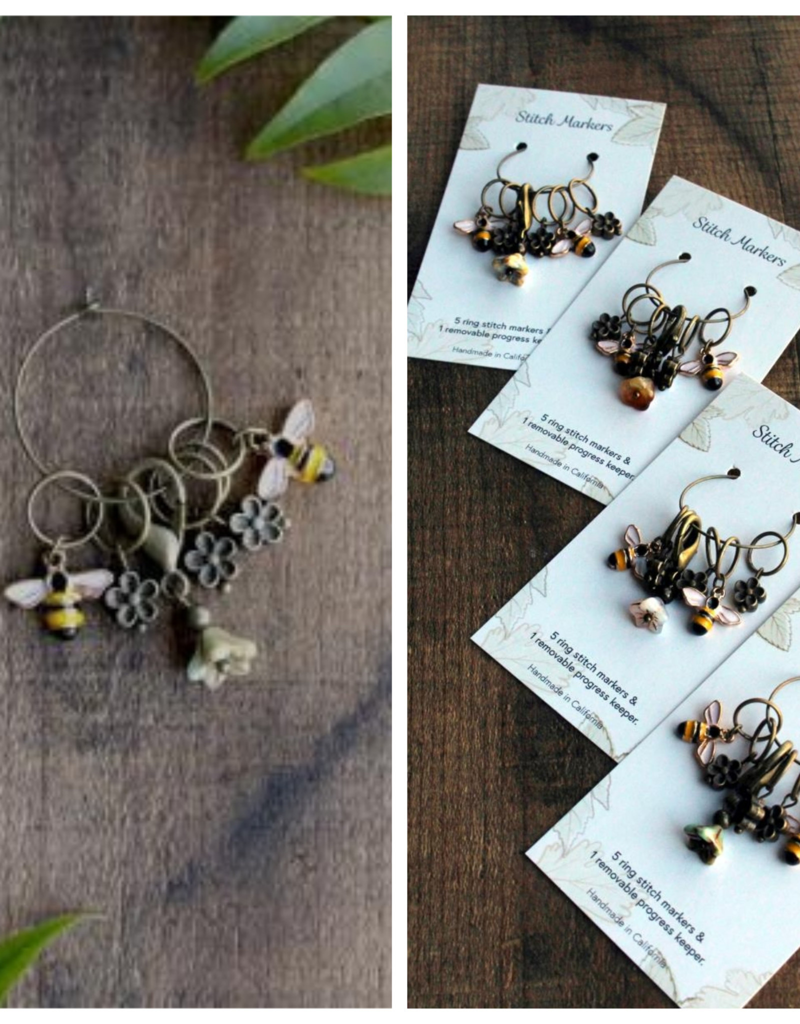 NNK Bee and Bloom Stitch Marker Set