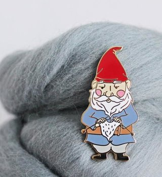 Twill&Print Knitting Gnome Enamel Pin