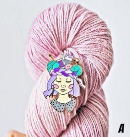 Twill&Print Craft Queen Enamel Pin, Skin Tone A