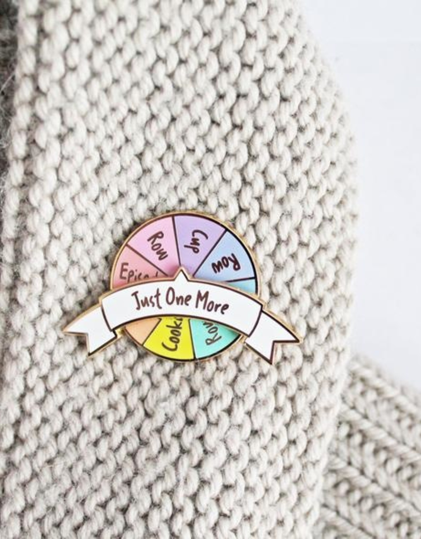 Twill&Print Just One More Spinner Enamel Pin
