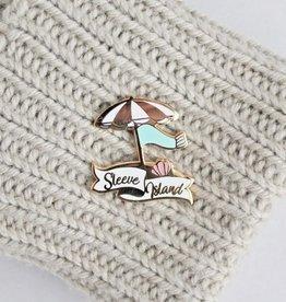 Twill&Print Sleeve Island Enamel Pin