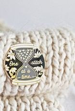Twill&Print One Stitch At A Time Enamel Pin