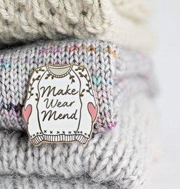 Twill&Print Make Wear Mend Enamel Pin