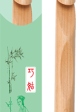 ChiaoGoo ChiaoGoo Bamboo Dark Crochet Hook, S 19mm