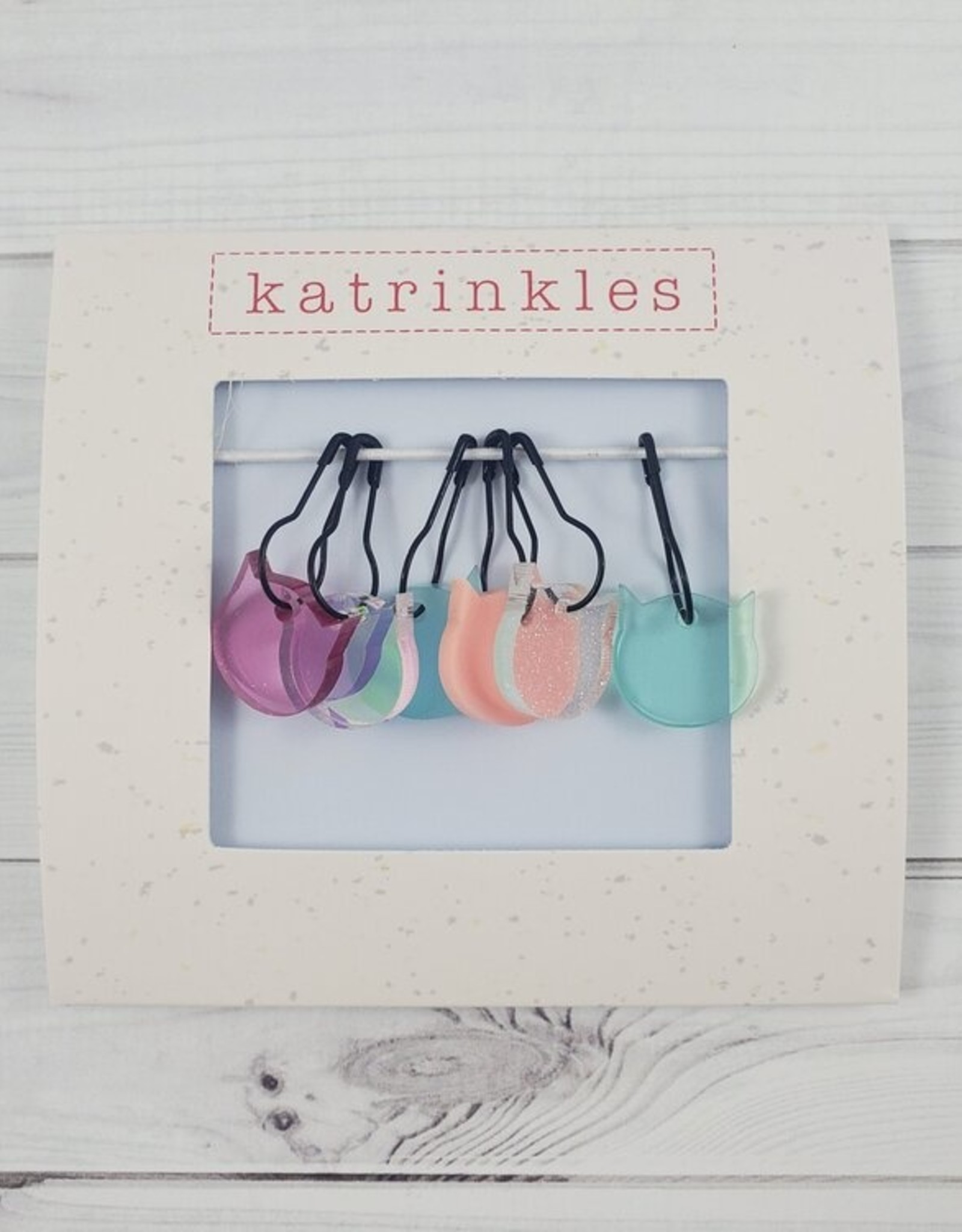 Katrinkles Cat-rinkles Cat Collection - Acrylic Stitch Markers