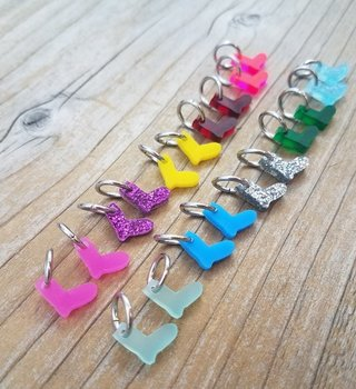 Katrinkles Acrylic Tiny Sock Stitch Marker Set Assorted
