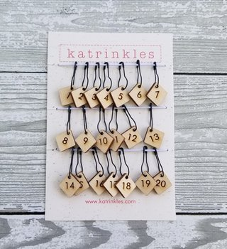 Katrinkles Numbers 1-20 for Counting Stitch Markers