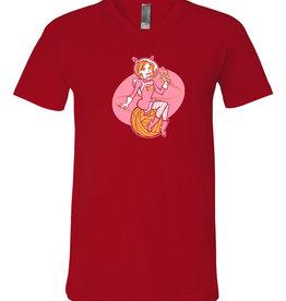 fibre space fibre girl v-neck shirt