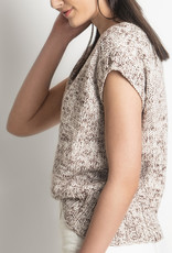 Blue Sky Fibers Seven Sisters Top in Printed Organic Cotton Worsted