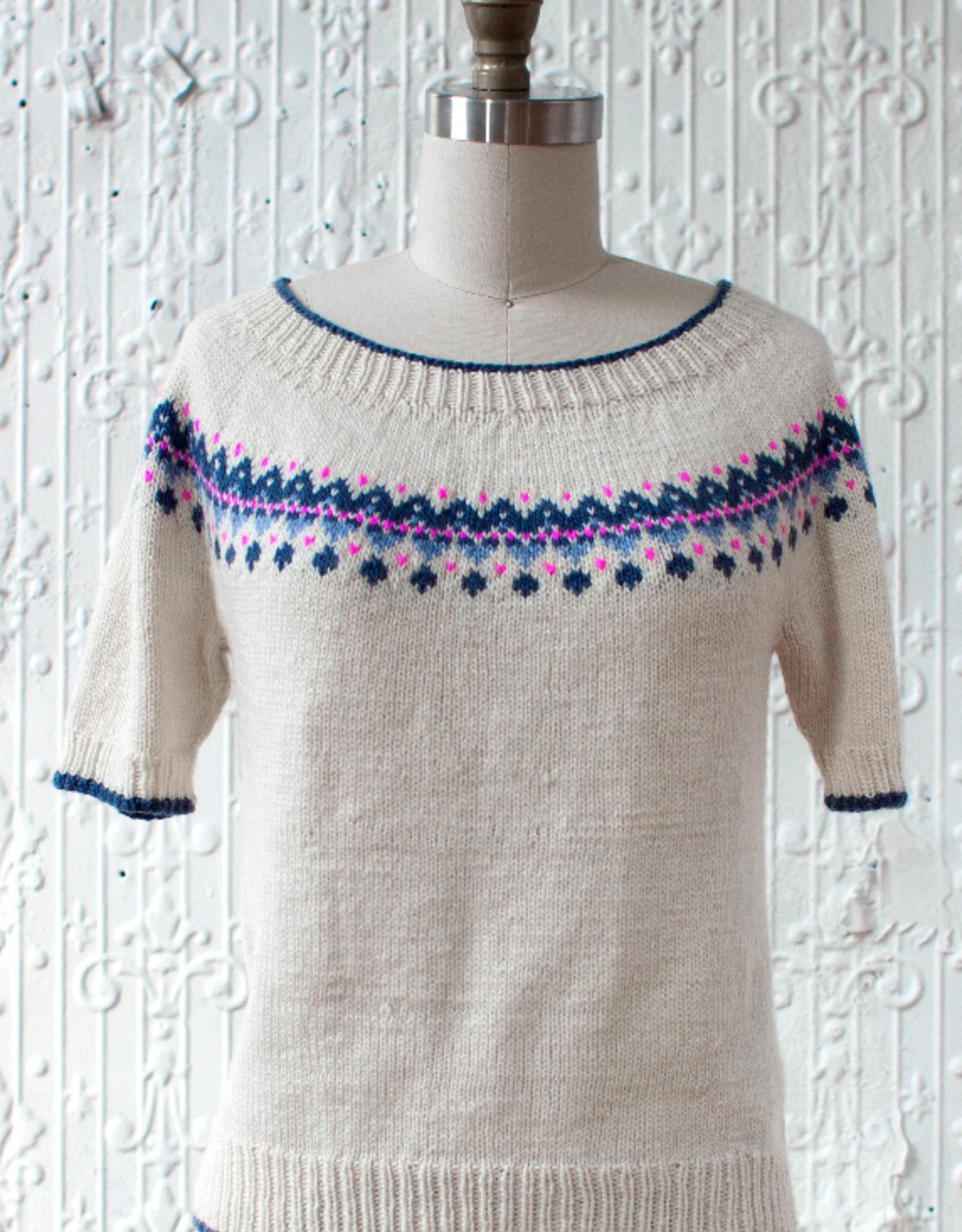Manos Del Uruguay Guirnalda Sweater Pattern  in Manos Silk Blend