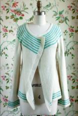 Manos Del Uruguay Blanca Cardigan Pattern  in Manos Silk Blend