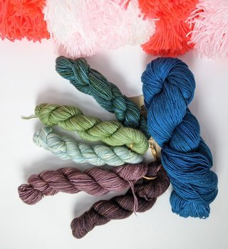 fibre space Mother's Day Fino Shawl Kit - Jewels