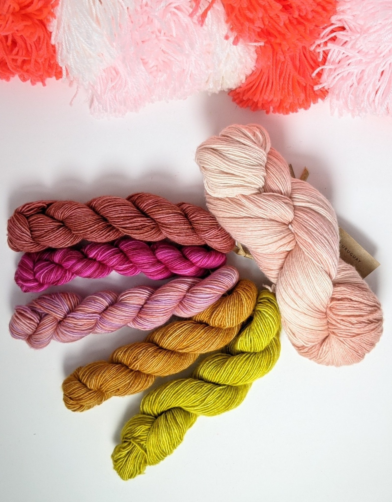 fibre space Fino Shawl Kit - Blooms