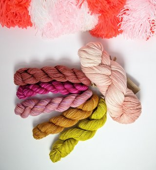 fibre space Mother's Day Fino Shawl Kit - Blooms