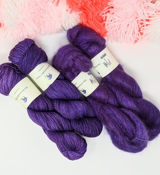 fibre space Mother's Day Merino and Mohair Kit- Purple