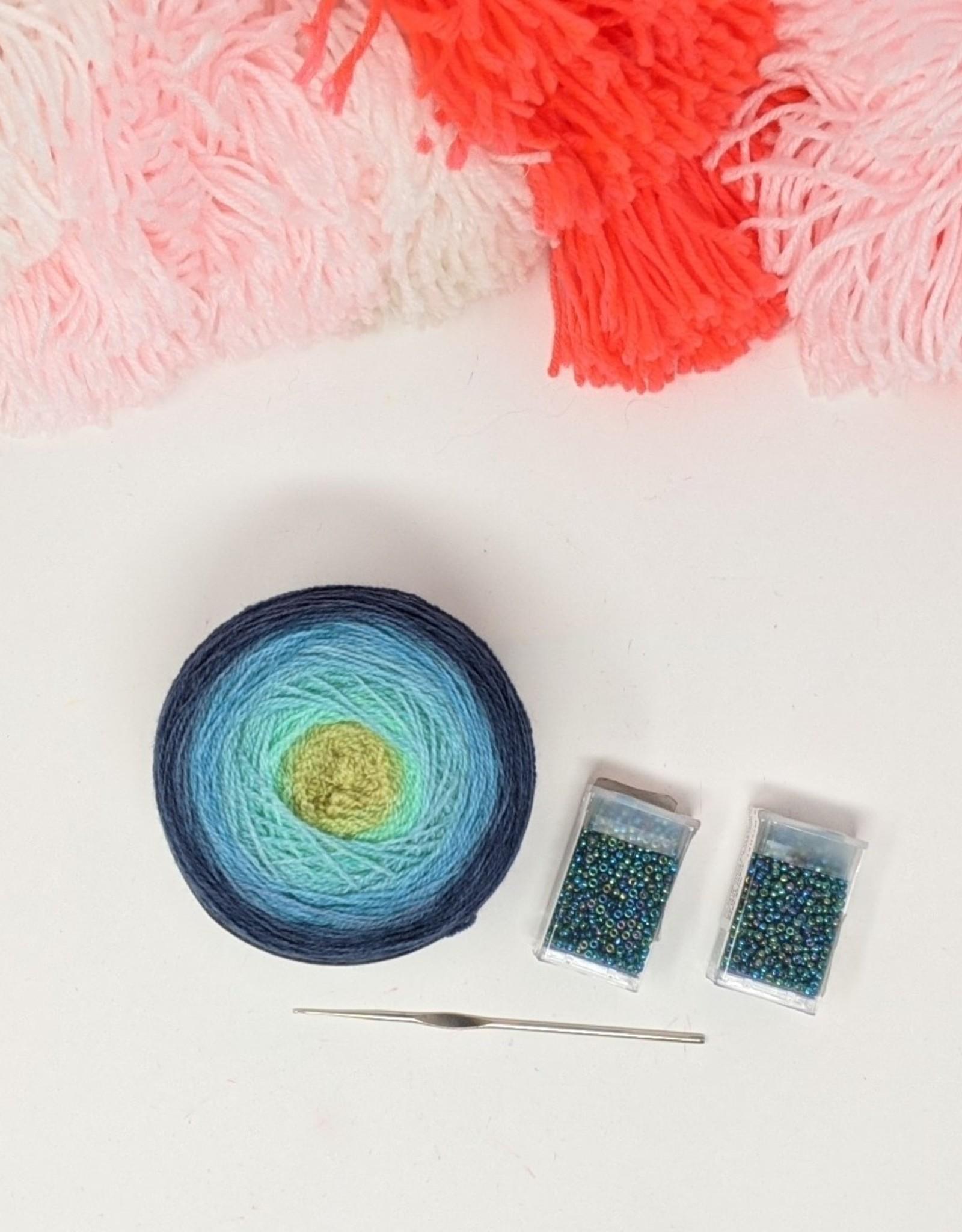 fibre space Beaded Lace Shawl Kit - Aurora
