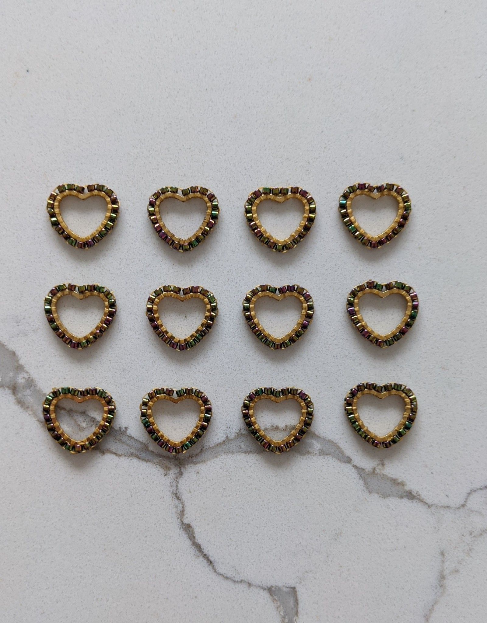 Thread and Maple Thread & Maple Bead Heart Stitch Markers